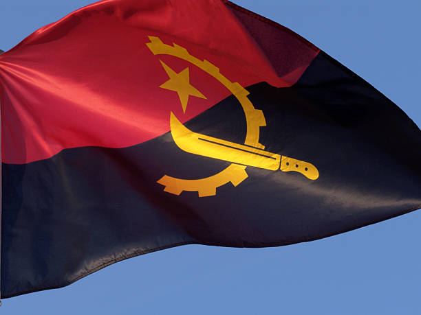 angola flag - angola stock photos and pictures
