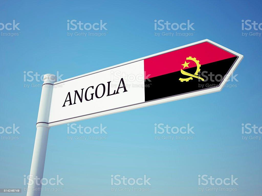 Angola Flag Sign stock photo