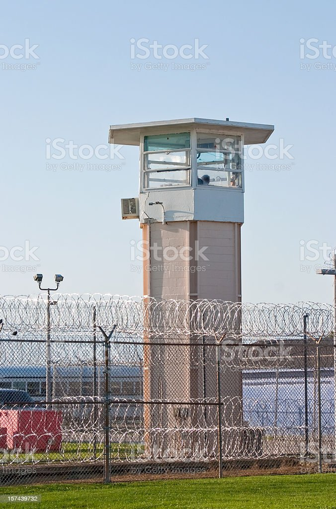 Angola Guard tower from inside _one stock photo