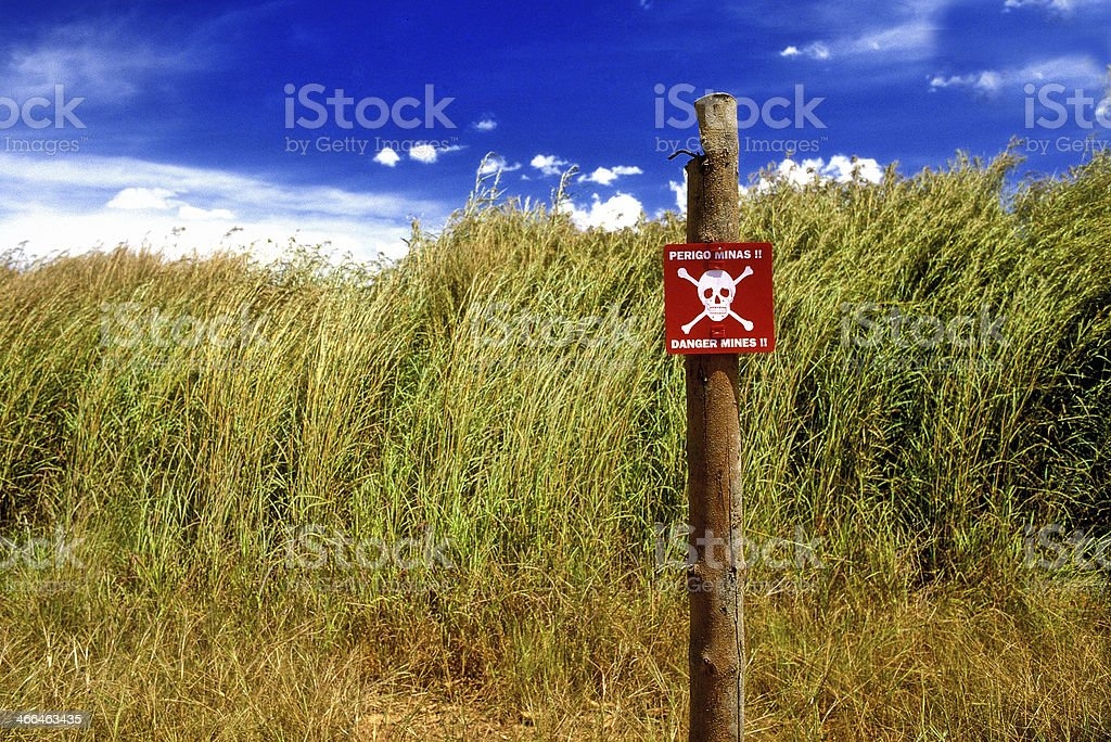 Angola Minefield stock photo