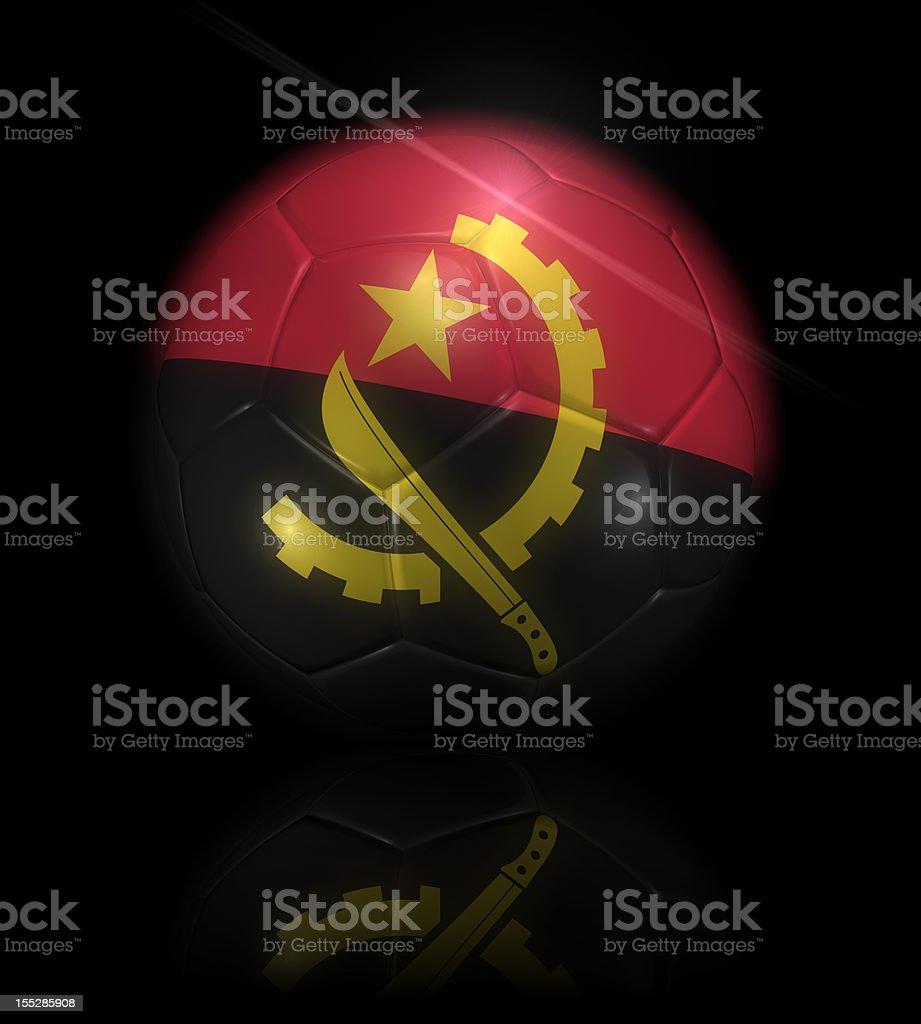 Angola soccer ball stock photo