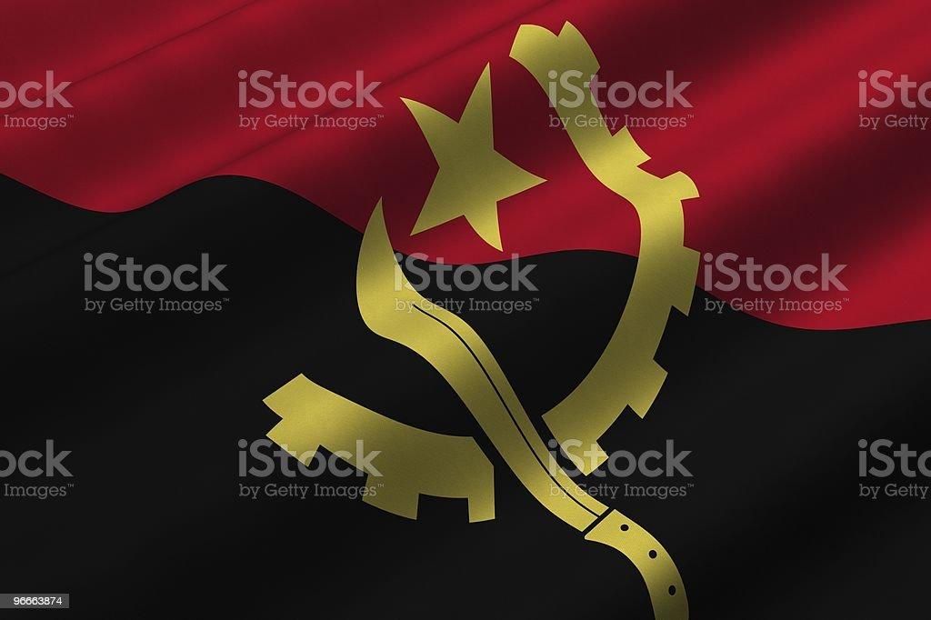 Angolan Flag stock photo