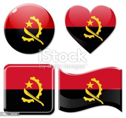 istock Angolan Flags & Icon Set 452708587