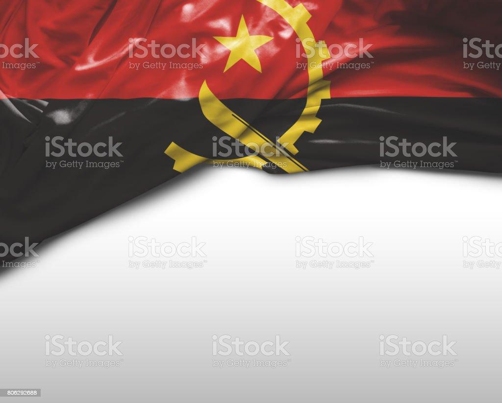 Angolan waving flag stock photo