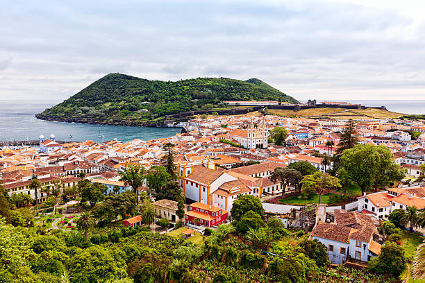 Angra do Heroismo, Terceira Island, Azores stock photo