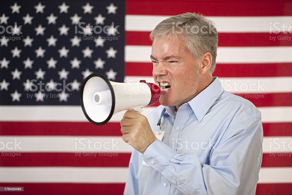 Angry American royalty-free stock photo