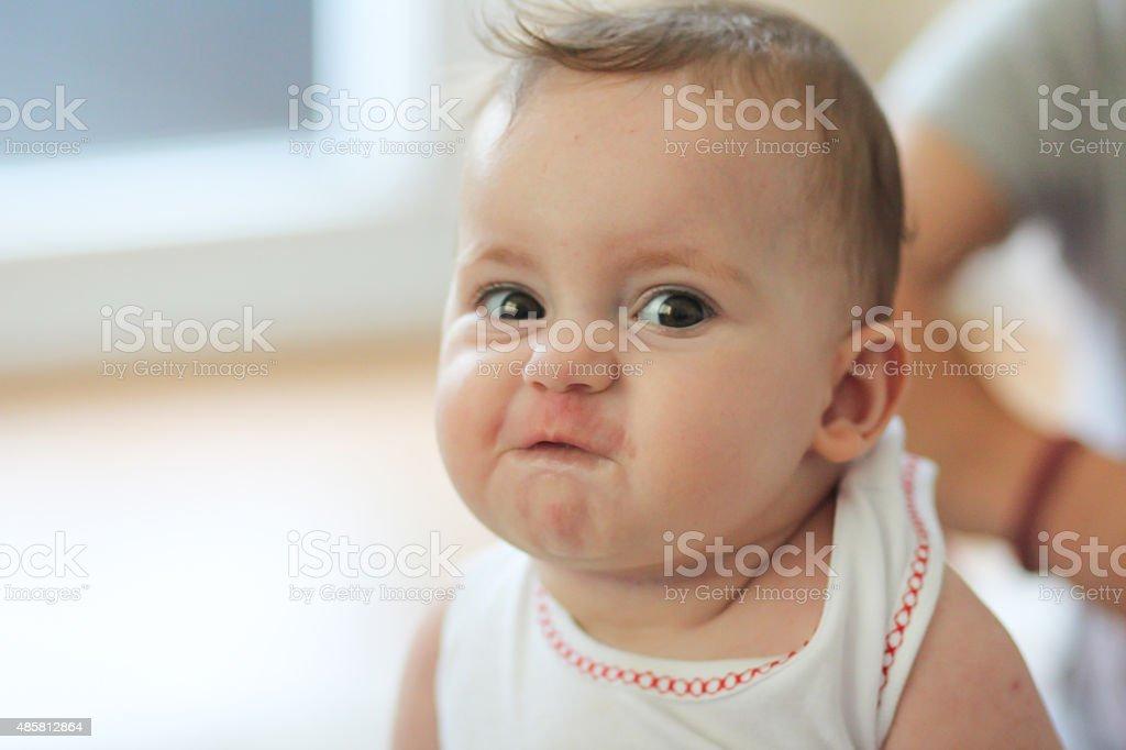 En colère visage de bébé - Photo