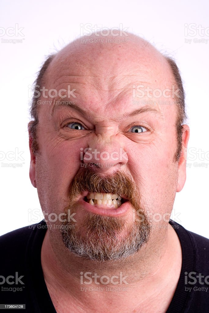 Angry Bald Man royalty-free stock photo