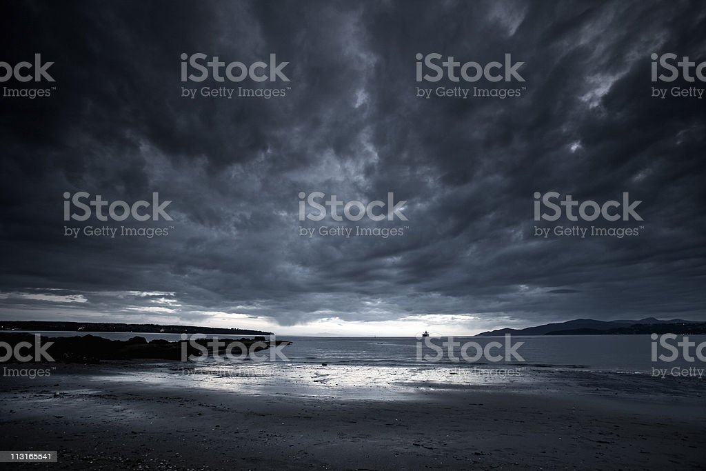 Angry Beach stock photo
