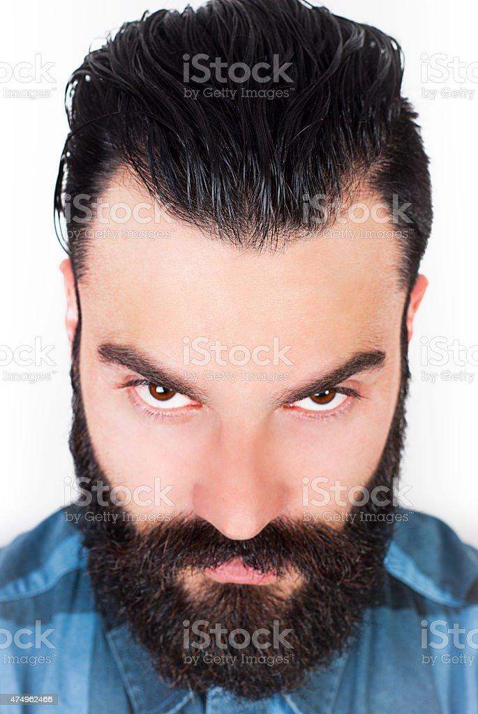 Wütende bärtiger Mann – Foto