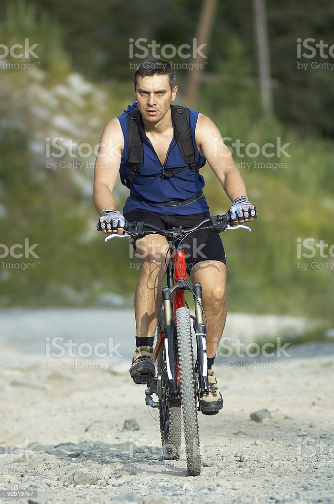 Angry biker royalty-free stock photo