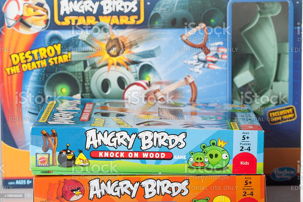 Angry Bird games stock photo