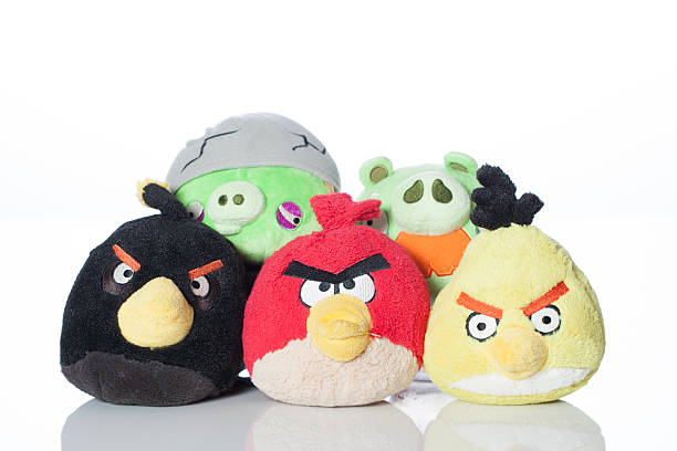 Angry Birds and Bad Piggies stock photo
