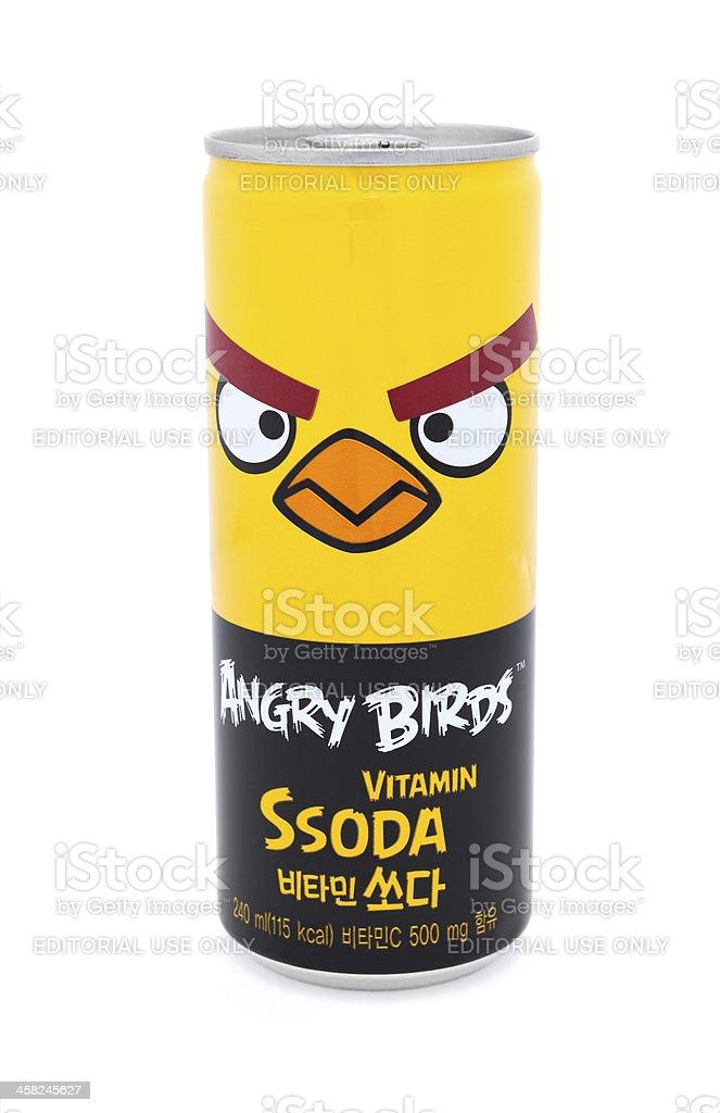 Angry Birds Vitamin Beverage royalty-free stock photo