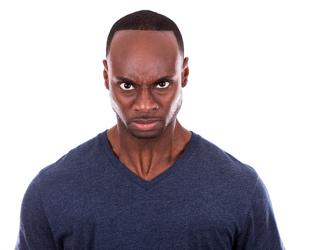 Angry Black Man Stock Photo - Download Image Now - iStock