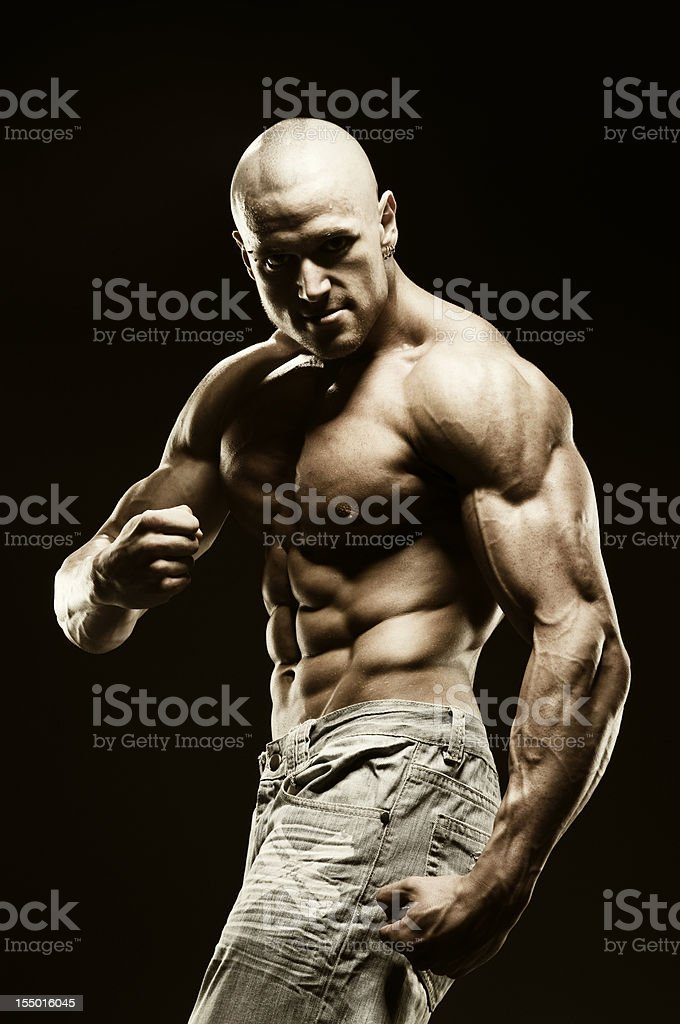 Angry body builder royalty-free stock photo