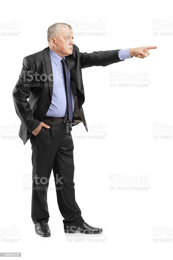 Angry boss firing an employee royalty-free stock photo