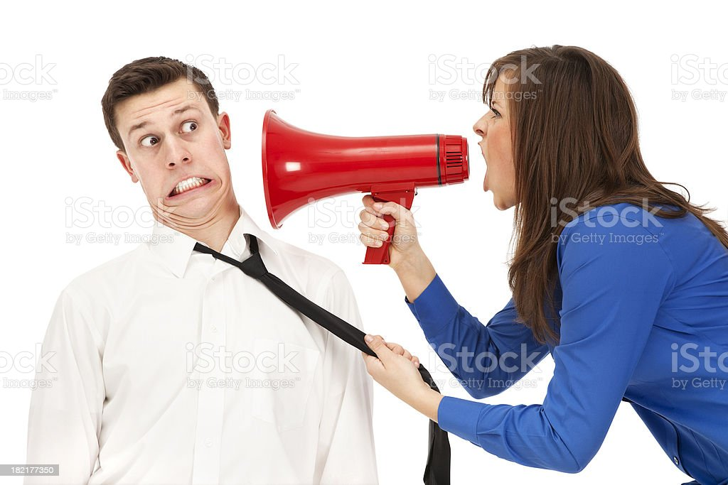 Angry Boss stock photo