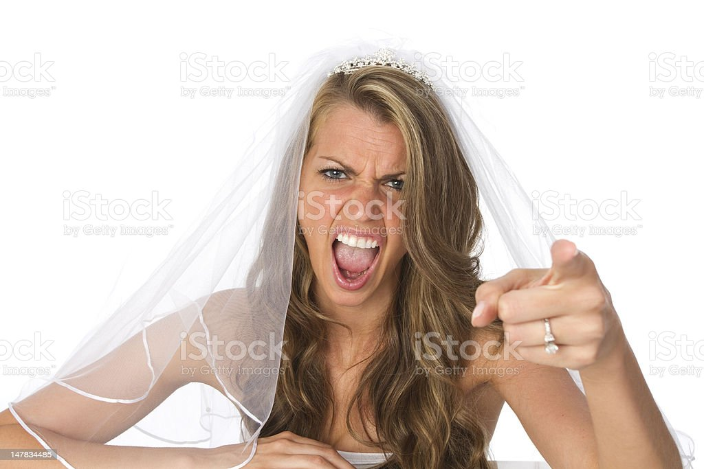angry bride stock photo