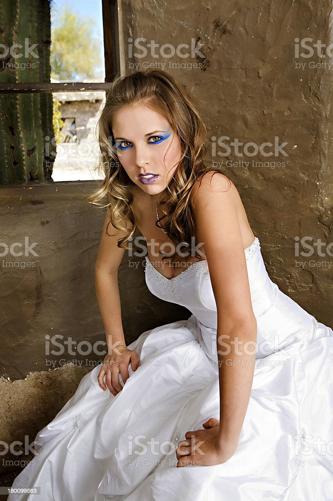 Angry Bride royalty-free stock photo