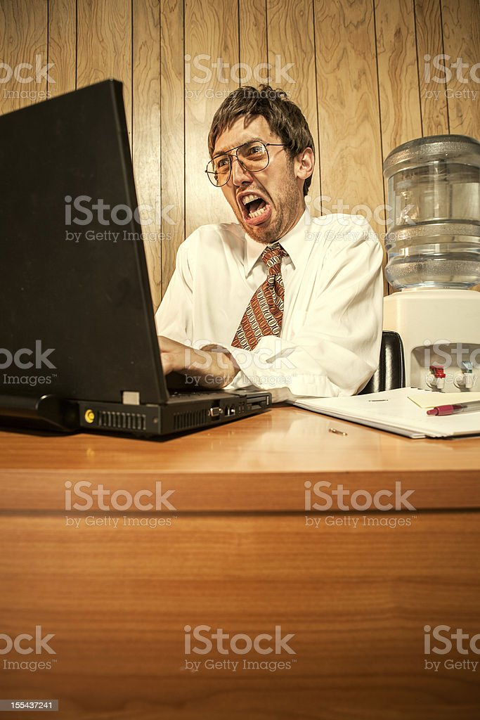 Angry Business Man in Office royalty-free stock photo