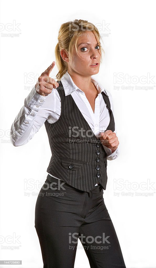 Angry business woman royalty-free stock photo