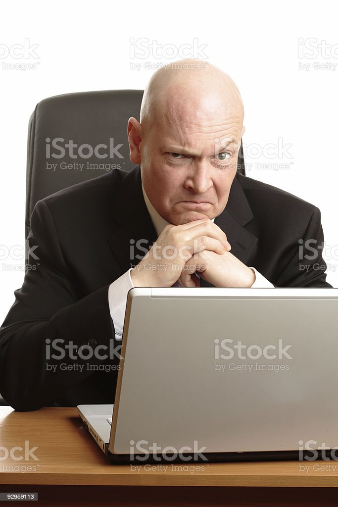 angry businessman in troubles royalty-free stock photo