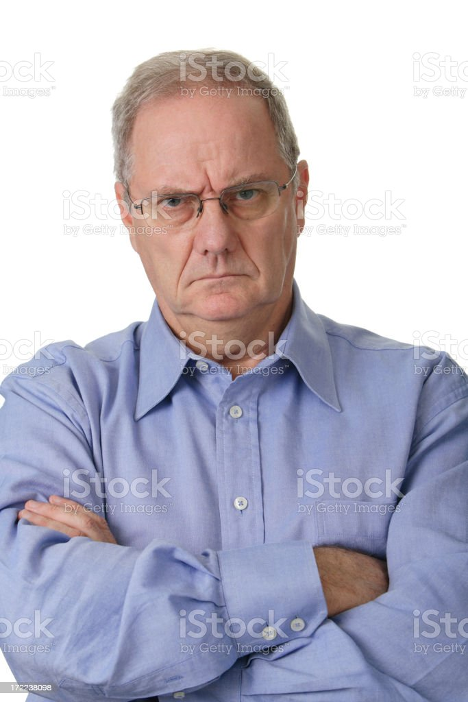 Angry Businessman royalty-free stock photo