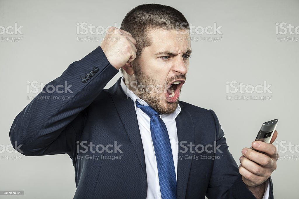 Angry businessman Angry businessman Furious Stock Photo