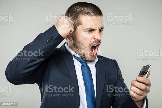 Angry Businessman Stock Photo - Download Image Now