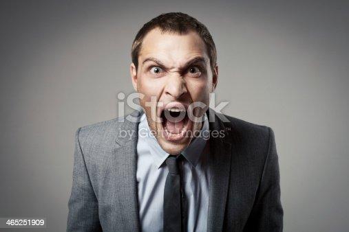 istock Angry businessman shouting 465251909
