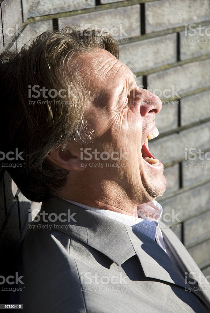 angry businessman shouting. royalty-free stock photo