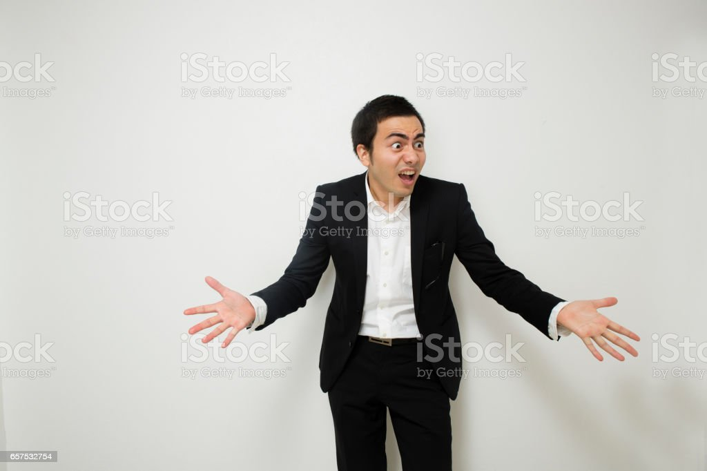 Angry businessmen stock photo