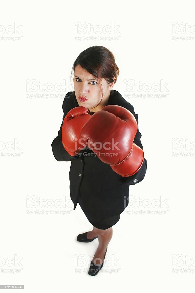 Angry businesswoman II royalty-free stock photo