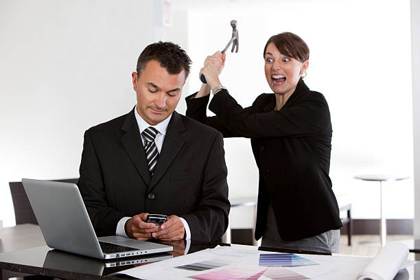Empresaria furiosa - foto de stock