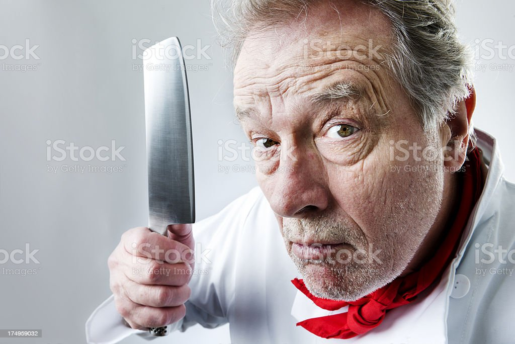 Angry Chef royalty-free stock photo