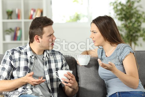 istock Angry couple arguing at home 833138188