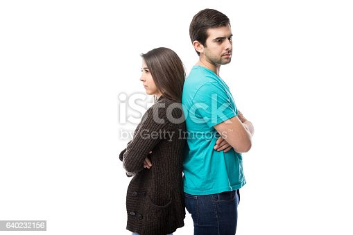 istock Angry couple just had a fight 640232156
