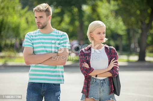 istock Angry couple on street 1168357756