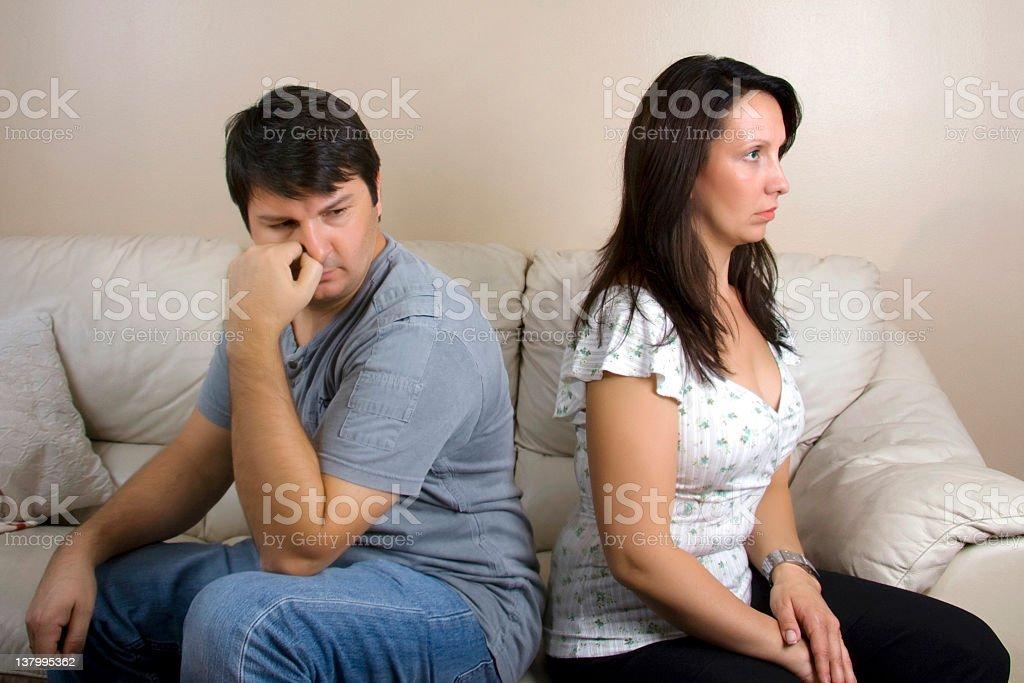 Angry couple royalty-free stock photo