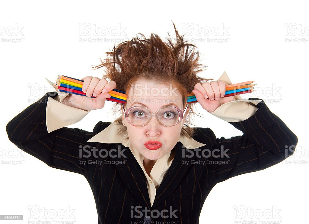 Angry crazy Business woman royalty-free stock photo
