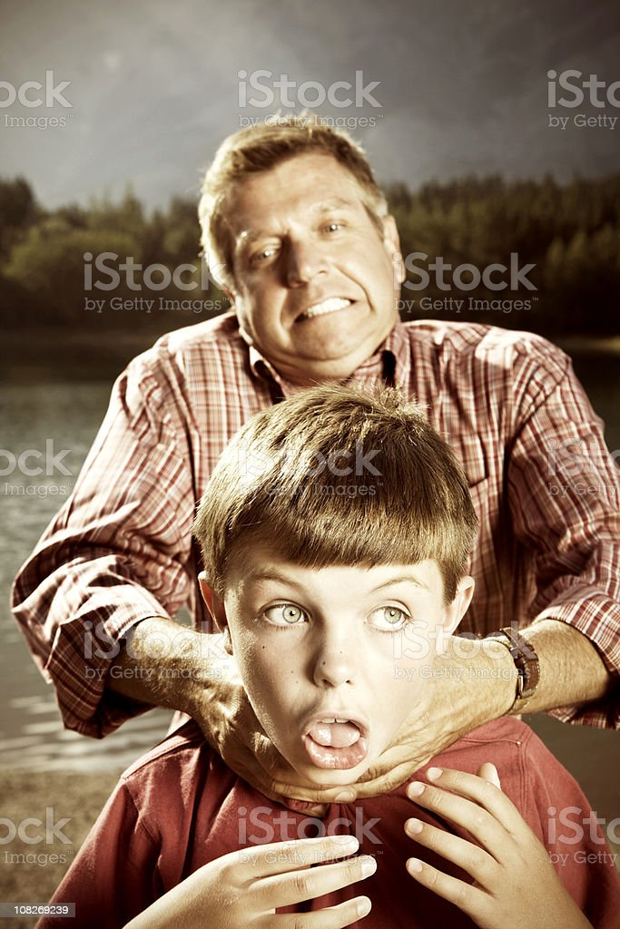 Angry Dad stock photo
