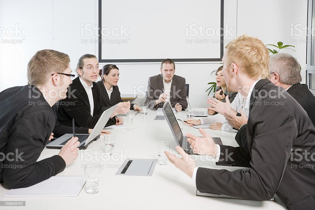 Angry Discussion royalty-free stock photo
