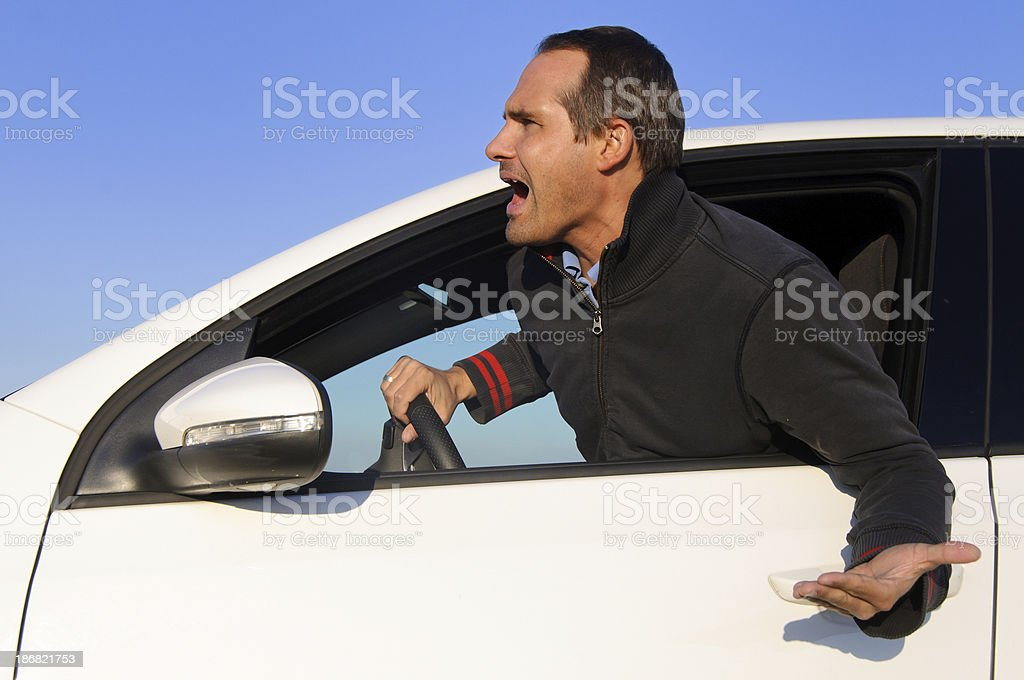 Angry driver royalty-free stock photo