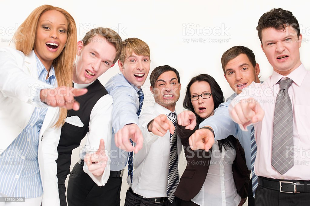 Angry Emotional Business Team stock photo