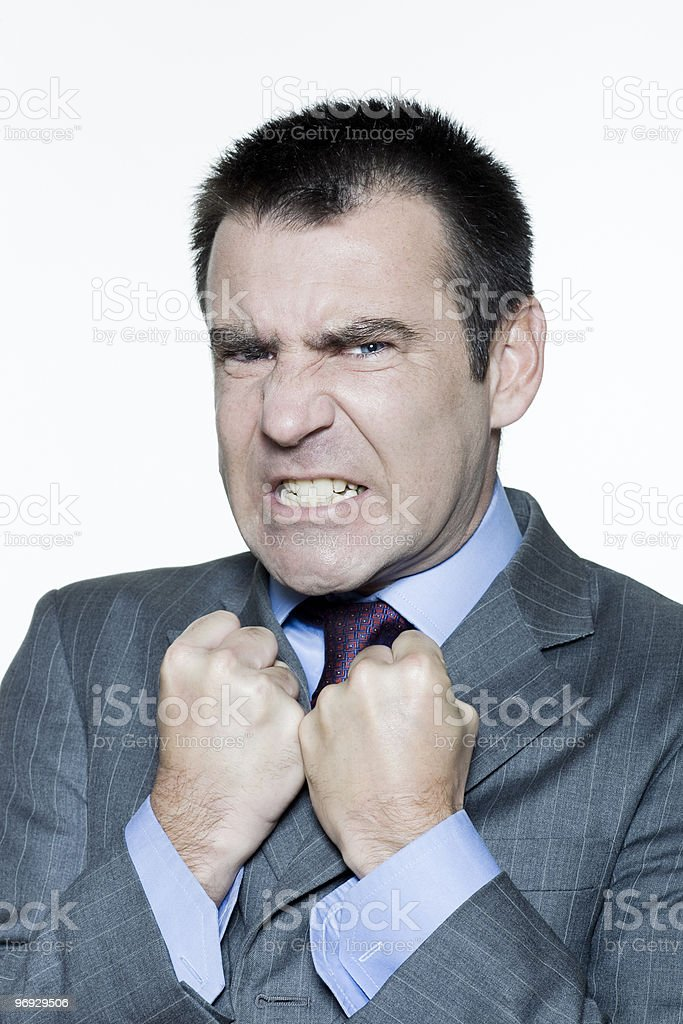 angry expressive man royalty-free stock photo