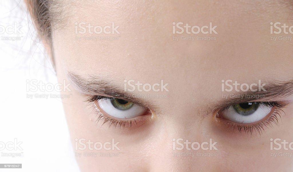 Angry eyes royalty-free stock photo