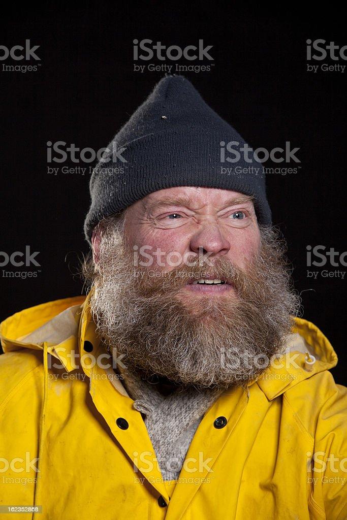 angry fisherman royalty-free stock photo