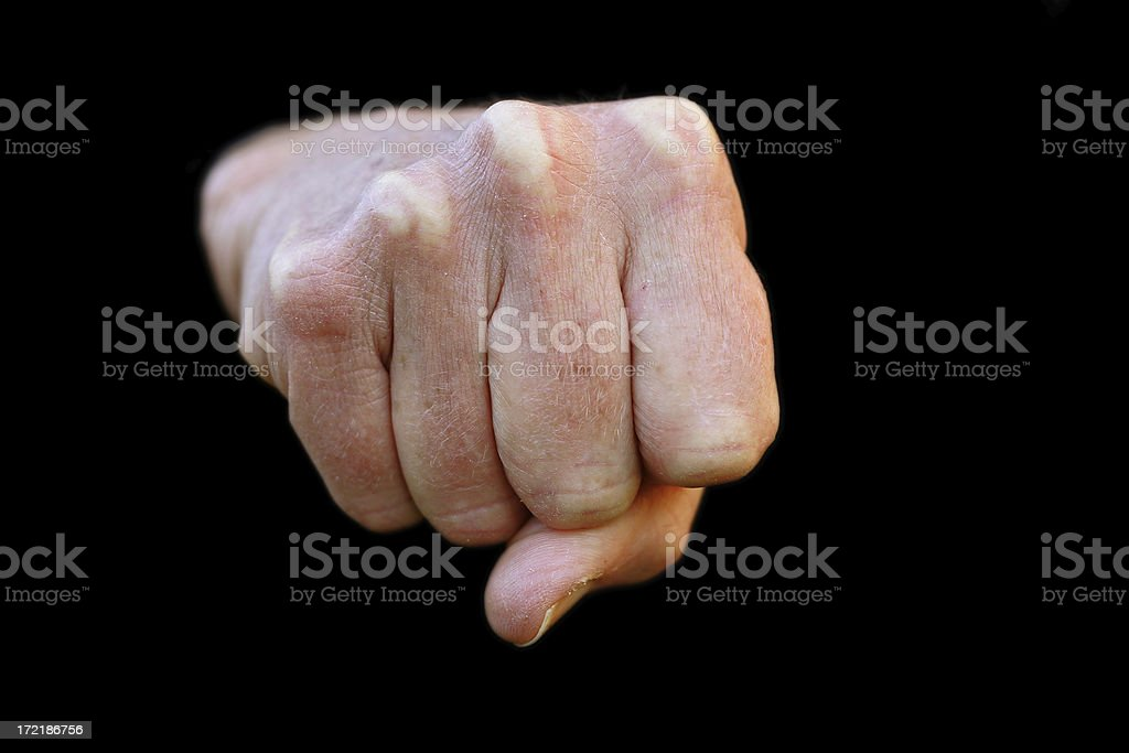 Angry Fist royalty-free stock photo