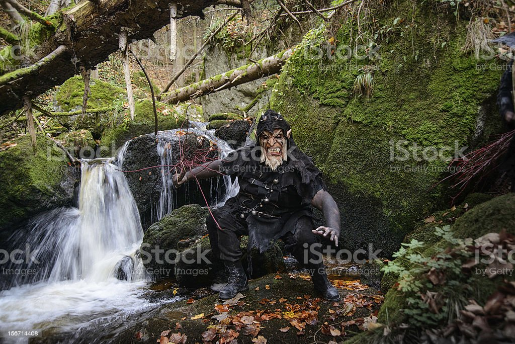 Angry Forest Demon royalty-free stock photo